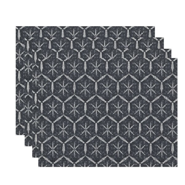 Lassiter Tufted Geometric Placemat (Set of 4) by Bungalow Rose