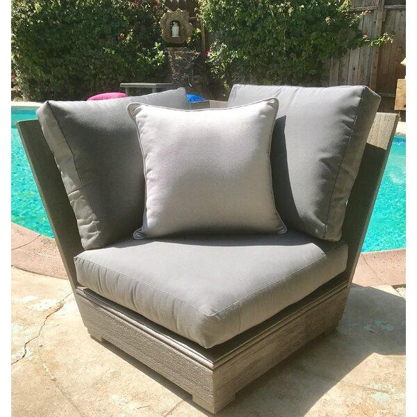 Yandell Teak Patio Corner with Sunbrella Cushion by Brayden Studio