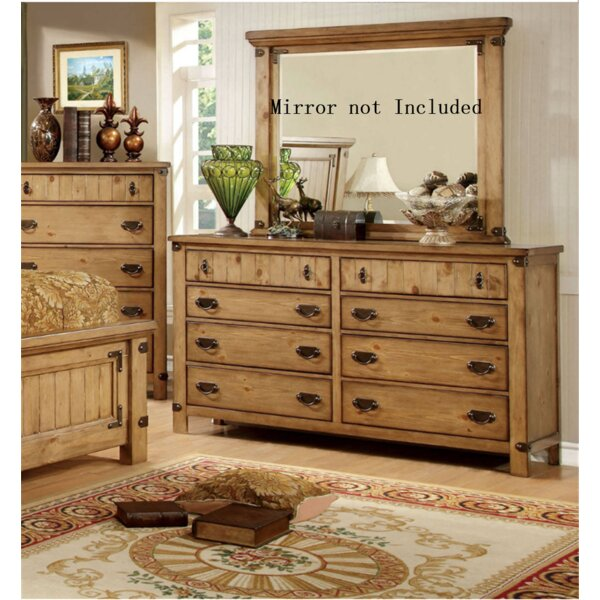 Adames 8 Drawer Double Dresser by Loon Peak