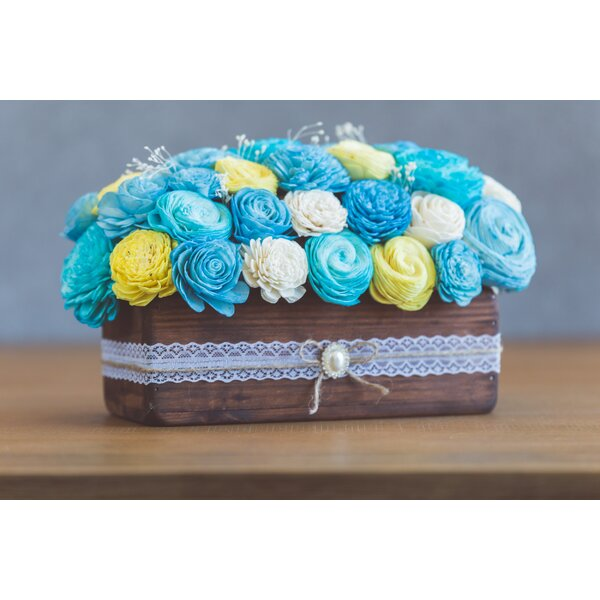 Baby Boy Mixed Centerpiece by Highland Dunes