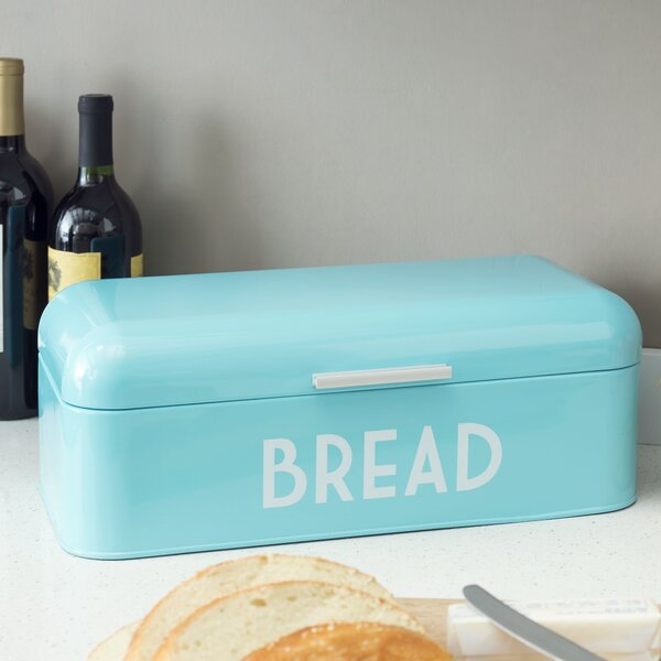 Metal Bread Box by Home Basics