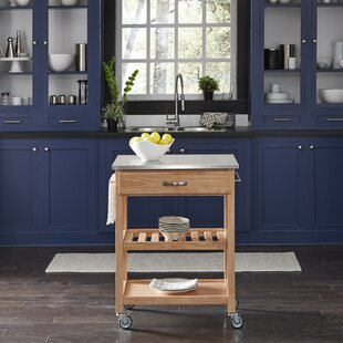 Erving Kitchen Cart with Stainless Steel Top by Winston Porter