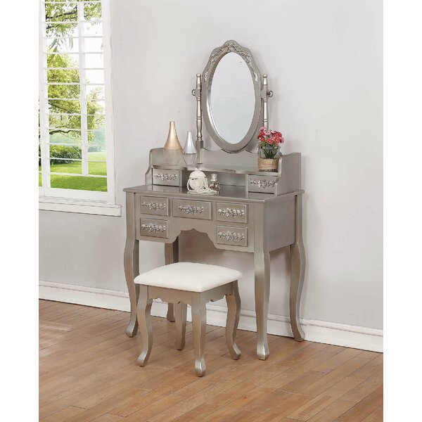 Yonkers Vanity with Mirror by House of Hampton