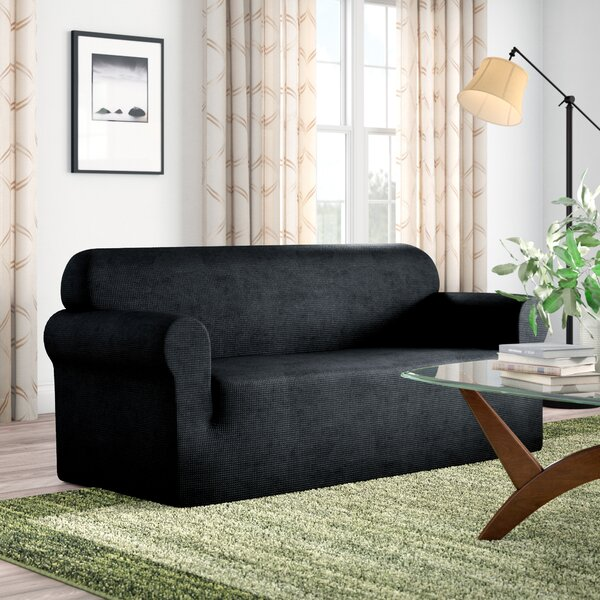 Box Cushion Loveseat Slipcover by Red Barrel Studio