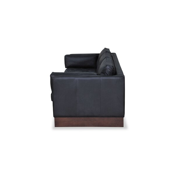 Giuseppe Genuine Leather Sofa By Latitude Run