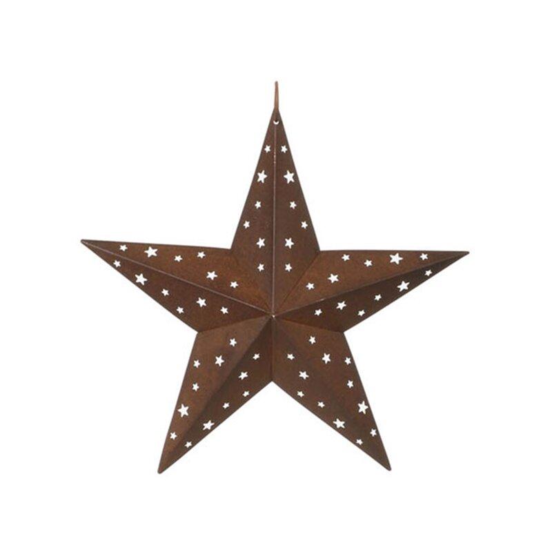 August Grove Tin Star with Star Cutouts Wall Décor | Wayfair
