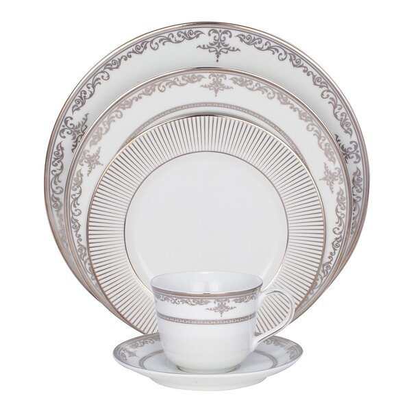 Pearl Harbor 5 Piece Fine China Place Setting, Service for 1 (Set of 4) by Shinepukur Ceramics USA, Inc.