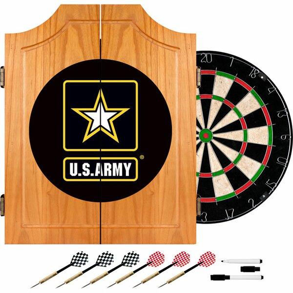 U.S. Army Wood Dart Cabinet Set by Trademark Global