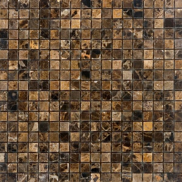0.63 x 0.63 Marble Mosaic Tile in Emperador Dark by Epoch Architectural Surfaces