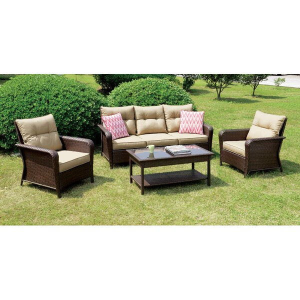 Fletcher 4 Piece Sofa Seating Group with Cushions by August Grove