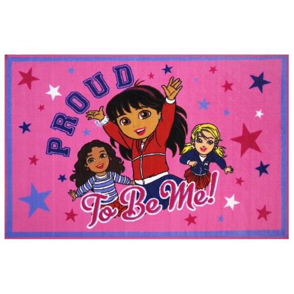 Dora Proud To Be Me Area Rug by Fun Rugs