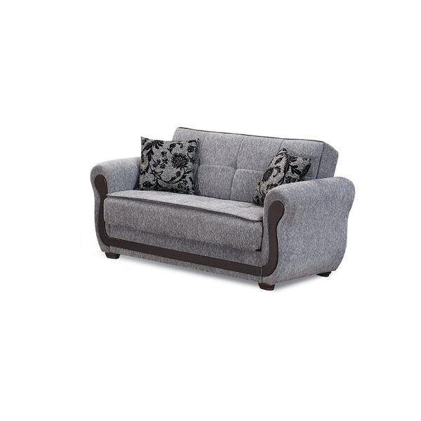 Trendy Modern Soejima Convertible Loveseat by Ebern Designs by Ebern Designs