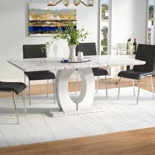 dining table pedestal base modern kimbell pedestal base dining table wayfair