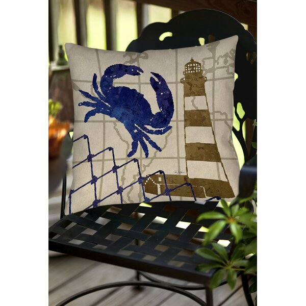 Vineyard Indoor/Outdoor Throw Pillow by Breakwater Bay