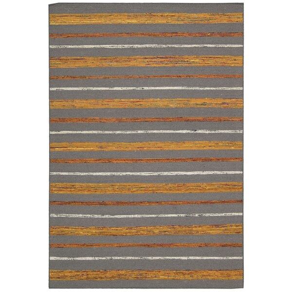 Pine Grove Gray Flame Rug by Bloomsbury Market