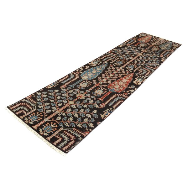 One-of-a-Kind Abbot Bridge Hand-Knotted Wool Brown/Blue Area Rug by Isabelline