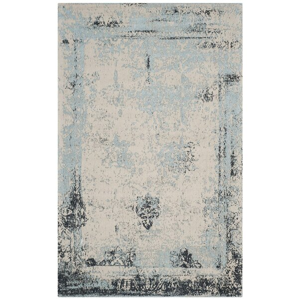 Sarvis Classic Vintage Blue Area Rug by Wrought Studio