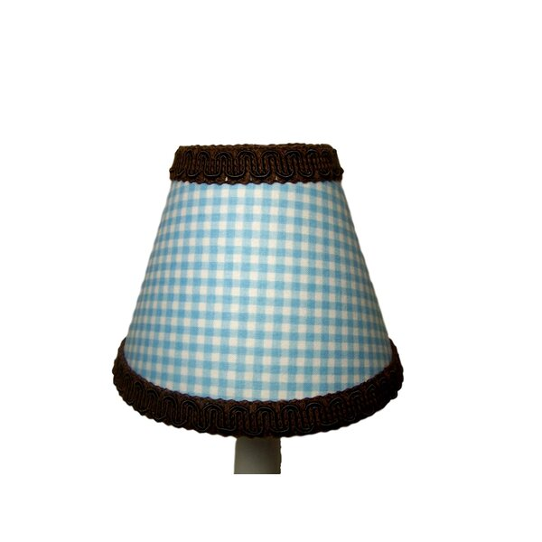 Too Cute 7 H Fabric Empire Lamp shade ( Screw on ) in Blue/Brown