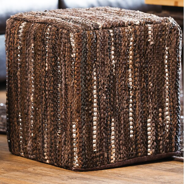 Toppenish Leather Pouf by Mistana