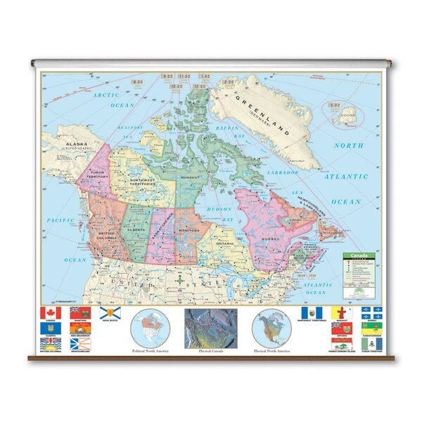 Primary Wall Map - Canada by Universal Map