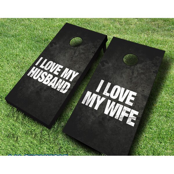 10 Piece I Love My Spouse Cornhole Set by AJJ Cornhole