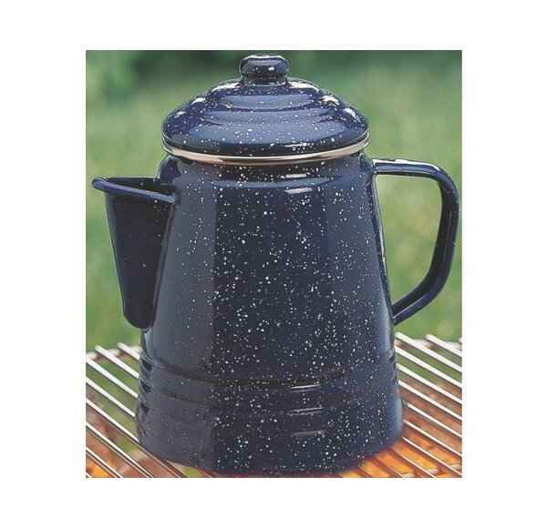 Percolator 9 Cup Enameware Coffee Maker by Coleman