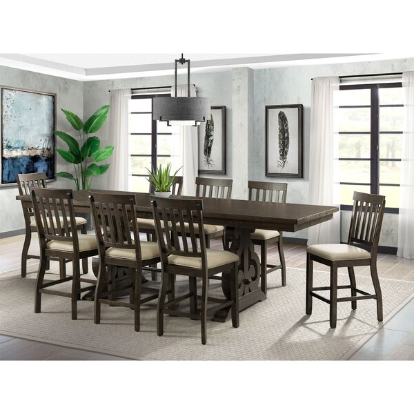 Kenworthy 9 Piece Counter Height Extendable Dining Set by Three Posts
