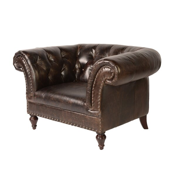 Jaffna Chesterfield Chair by Lazzaro Leather