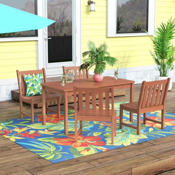 Amabel Classic 5 Piece Wood Dining Set by Beachcrest Home