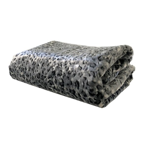 Mcgovern Snow Leopard Luxury Blanket by Bloomsbury Market