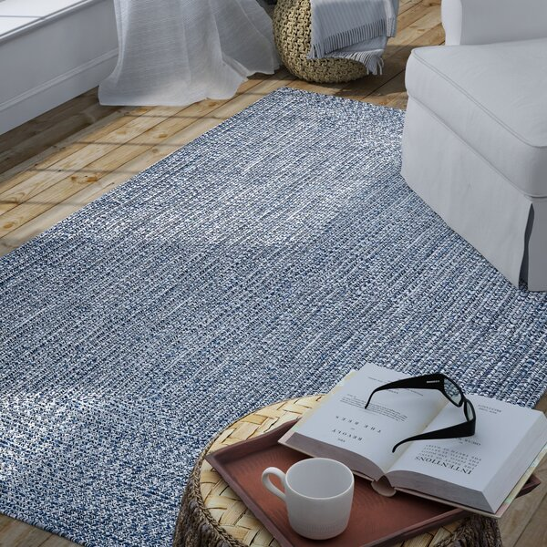 Moseley Handmade Light Blue Area Rug by Wade Logan