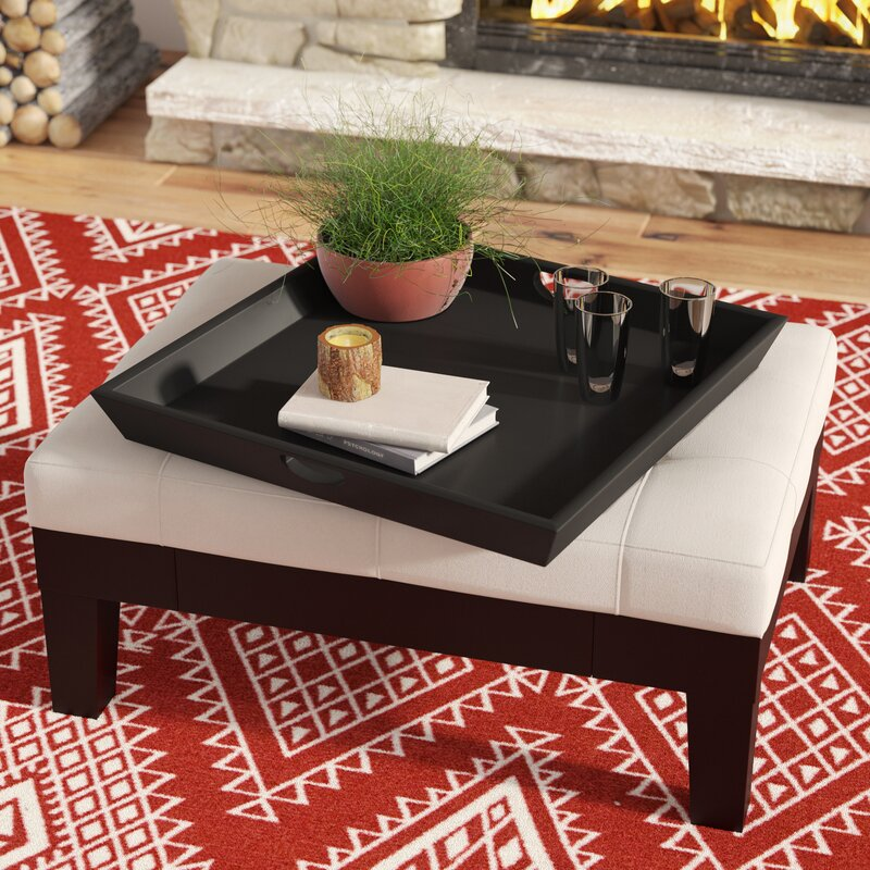 Trent Austin Design Ottoman Square Wood Tray Reviews Wayfair