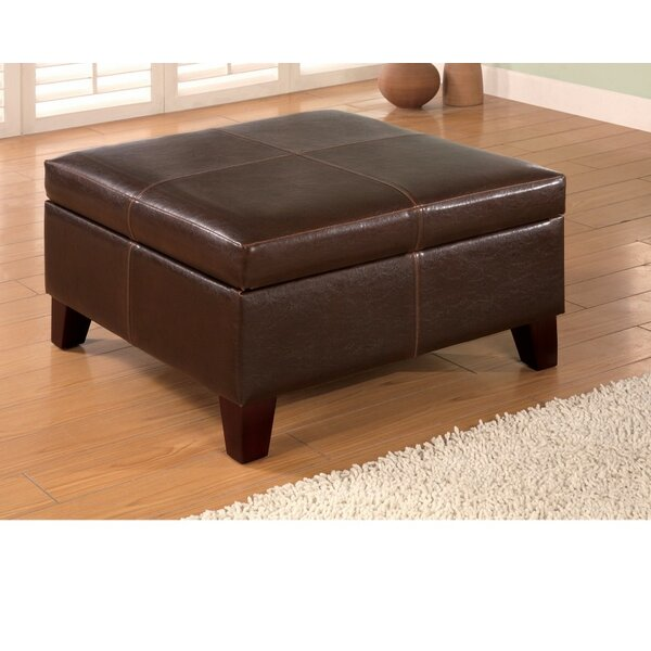 Ignacio Square Leather Storage Ottoman by Winston Porter
