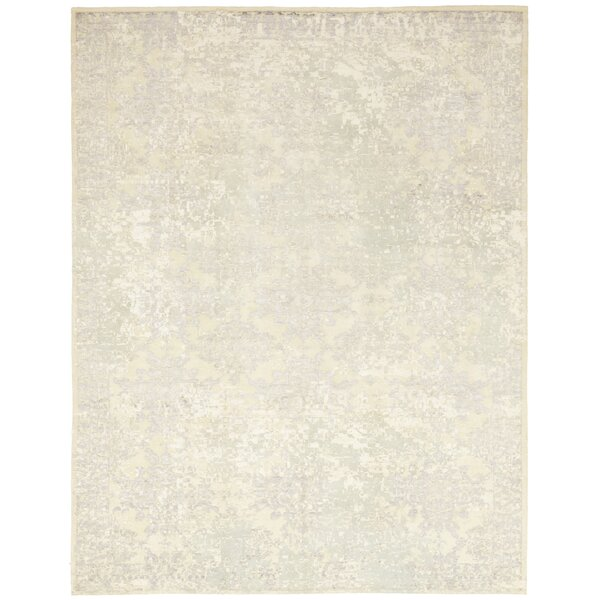 One-of-a-Kind Crume Hand-Knotted Wool Gray Indoor Area Rug by Isabelline
