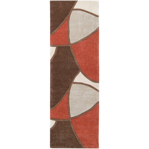 Deveau Brown/Rust Rug by Ebern Designs