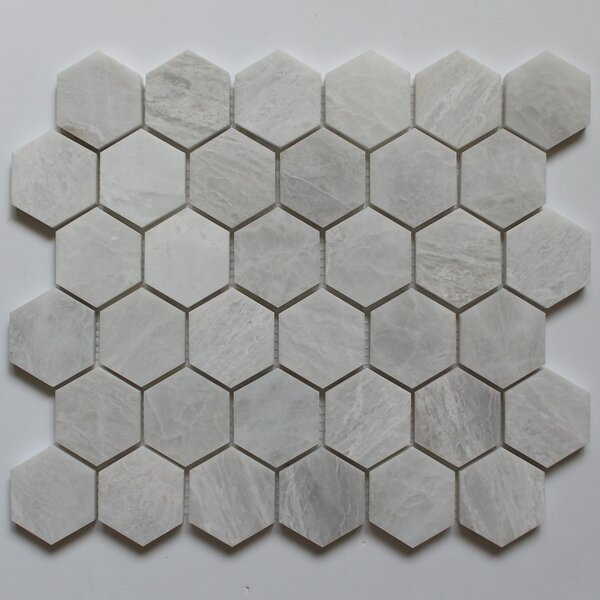 Honeycomb 2 x 2 Marble Mosaic Tile in Iceberg by Ephesus Stones