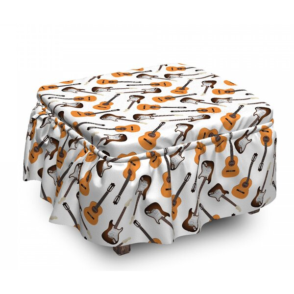 Realistic Instruments Ottoman Slipcover (Set Of 2) By East Urban Home