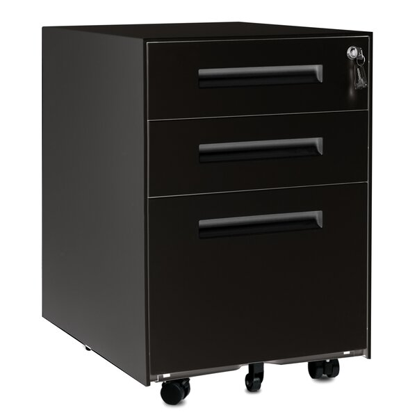 Stanwell 3-Drawer Mobile Vertical Filing Cabinet