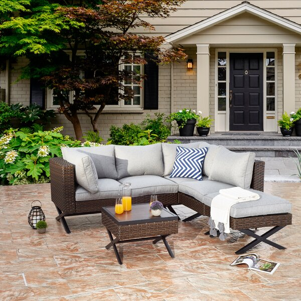 Rimersburg 6 Piece Sectional Seating Group with Cushions by Latitude Run