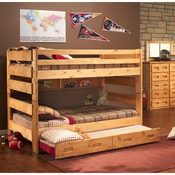 Rosalez Full Over Full Bunk Bed with Trundle by Harriet Bee