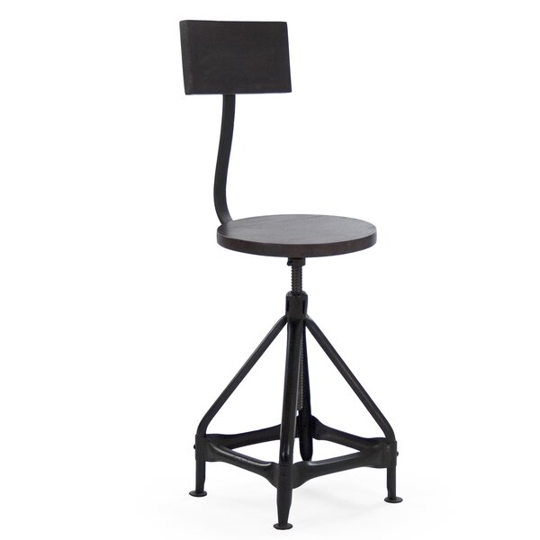 Evolution Adjustable Height Swivel Bar Stool by Zentique