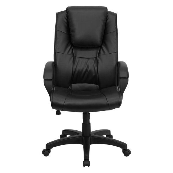 Wolken High-Back Leather Executive Chair by Symple Stuff