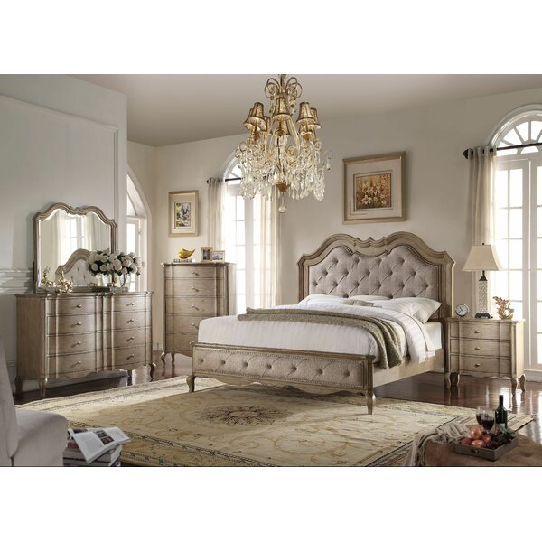 Aubree Upholstered Configurable Bedroom Set by One Allium Way
