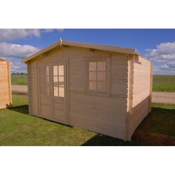 Optima 12 ft. 6 in. W x 12 ft. 6 in. D Wooden Storage Shed by SolidBuild