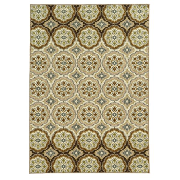 Roger Ivory/Tan Area Rug by Threadbind