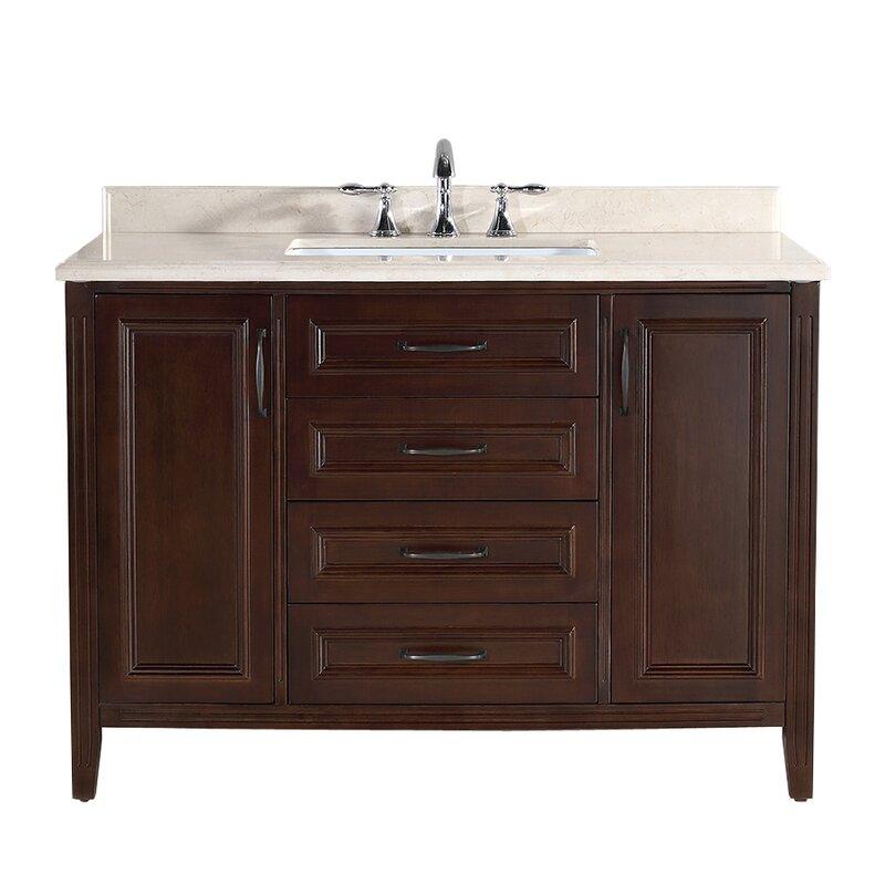 "Bathroom Vanity Reviews ove decors daniel 48"" single bathroom vanity set & reviews | wayfair"