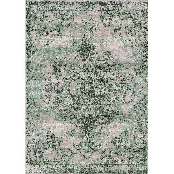 Aliza Handloom Green Area Rug by Bungalow Rose