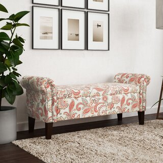 Amiyah Rolled Arm Upholstered Storage Bench by Red Barrel Studio SKU:BB741682 Guide