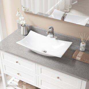 Inexpensive Vitreous China Rectangular Vessel Bathroom Sink with Faucet By MR Direct