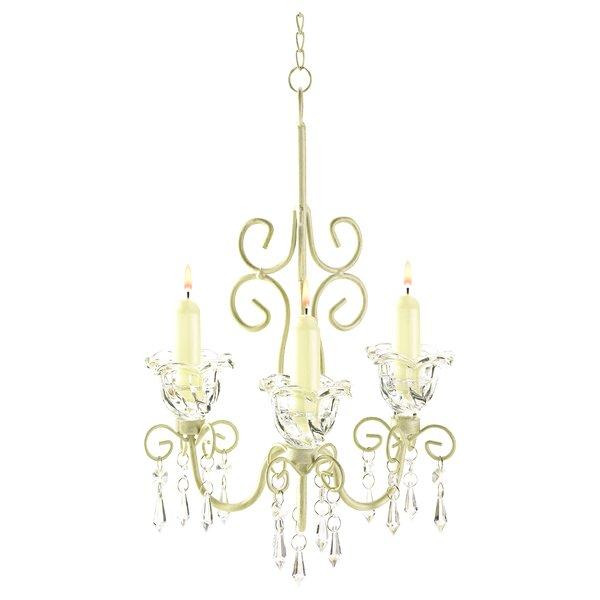 Barr Iron & Acrylic 3-Light Candle Style Chandelie